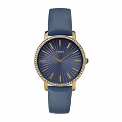 Timex Metropolitan Starlight Womens Blue Strap Watch-Tw2r510009j