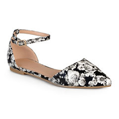 Journee Collection Reba Ankle-Strap Ballet Flats