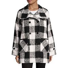 KC Collections Plaid Walker Coat