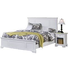 Walton Bed and Nightstand