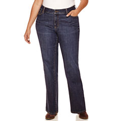 St. John's Bay® Straight-Leg Jeans-Plus (31