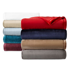 JCPenney Home™ Velvet Plush Solid Throw