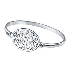 Personalized Sterling Silver Monogram Bangle