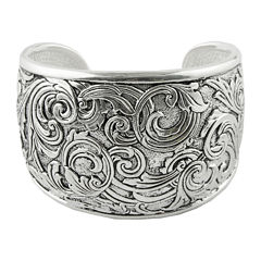 Art Smith by BARSE Textured Oxidized Silver-Plated Cuff Bracelet