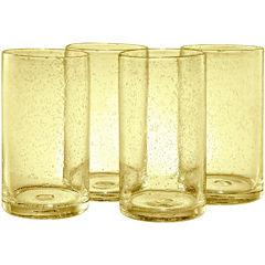 Iris Set of 4 Highball Glasses