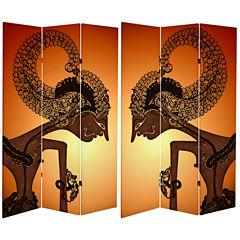 Oriental Furniture 6' Wayang Shadow Puppet Room Divider