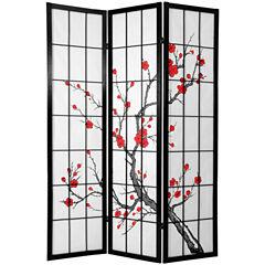 Oriental Furniture 6' Cherry Blossom Shoji 3 PanelRoom Divider