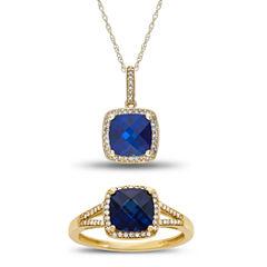 Womens 2-pc. Blue Sapphire 10K Gold Jewelry Set