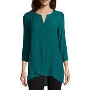 St. John's Bay® Long-Sleeve Asymmetrical-Hem Tunic