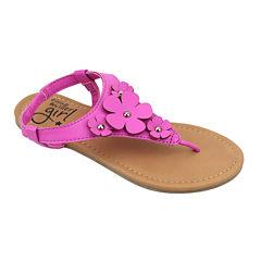 OMGirl Zinia Floral Elastic-Strap Girls Sandals - Little Kids