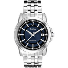 Bulova® Precisionist Mens Silver-Tone Watch