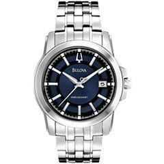 Bulova® Precisionist Mens Silver-Tone Watch