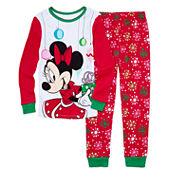 Disney Collection 2-pc. Cotton Pajamas Set-Girls