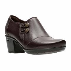 Clarks Emslie Warren Womens Slip-On Shoes