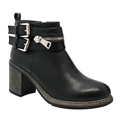 Olivia Miller Womens Zipper Ankle Boots
