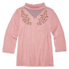 Insta Girl V Neck Short Sleeve Cap Sleeve Blouse - Big Kid Girls