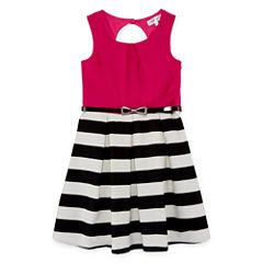 Emerald Gumdrops Short Sleeve Cap Sleeve Skater Dress - Big Kid Girls