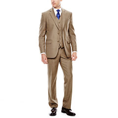 Stafford® Travel Brown Sharkskin Suit Separates - Classic Fit