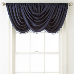 Liz Claiborne Westfield Rod-Pocket/Back-Tab Waterfall Valance