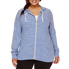 City Streets® Basic Zip-Front Hoodie - Juniors Plus