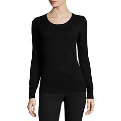 Worthington® Long-Sleeve Essential Crewneck Sweater - Tall