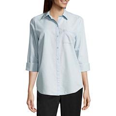 a.n.a Long Sleeve Button-Front Shirt