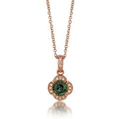 Grand Sample Sale™ by Le Vian® Pistachio Diopside® & Vanilla Diamonds® Accent in 14k Strawberry Gold® Pendant Necklace