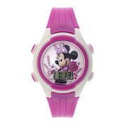 Disney Minnie Mouse Kids Pink Plastic Strap Digital Watch