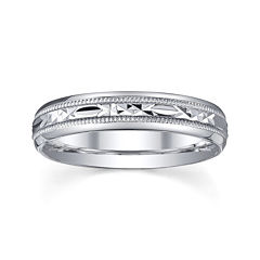 personalized 4mm comfort fit criss cross sterling silver wedding band - Jcpenney Jewelry Wedding Rings