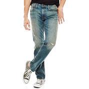 Arizona Flex Slim Straight Stretch Destruction Jeans
