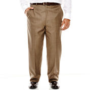 Stafford® Travel Sharkskin Flat-Front Suit Pants - Big & Tall
