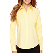Liz Claiborne® Long-Sleeve Wrinkle-Free Oxford Shirt