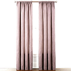 Liz Claiborne® Gallery Pleated Taffeta Rod-Pocket Curtain Panel