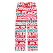 Total Girl White Fairisle Pajama Pants - Girls