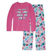 Total Girl 2-pc. Dear Santa Pajama Set - Big Kid & Plus