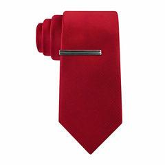 J.Ferrar Faille Solid Slim Tie