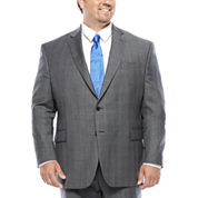 Stafford® Super 100 Gray Glenn Check Wool Suit Separates - Portly Ft