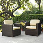 Palm Harbor Wicker 2-pc. Patio Lounge Set