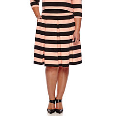 Ashley Nell Tipton for Boutique+ Box Pleat Skirt - Plus