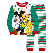 Disney Collections 2-pc. Mickey Mouse Holiday Pajama Set - Boys