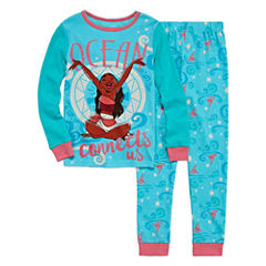 Disney Collection 2-pc. Moana Cotton Pajamas Set