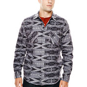 Arizona Printed Flannel Button-Front Shirt