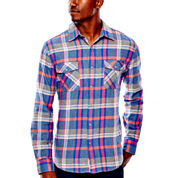 Arizona Long-Sleeve Flannel Button-Front Shirt
