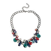 Bleu™ Multicolor Beads Drop Necklace