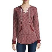 Arizona Lace-Up Hooded Sweatshirt - Juniors
