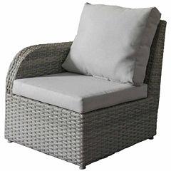 CorLiving Brisbane Weather Resistant Resin Wicker Left Arm Patio Chair