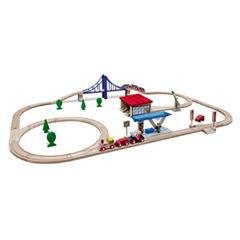 Eichhorn - 58 Piece Large Wooden Train Set
