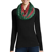 Woven Holiday Infinity Scarf