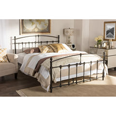 Baxton Studio Alissa Metal Bed