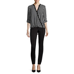 nicole by Nicole Miller® Long-Sleeve Striped Surplus Top or Ankle Pants
